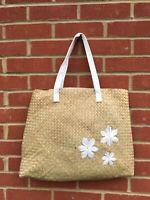 Bodyshop Women/s Ladies white summer handbag straw Basket bag beach bag