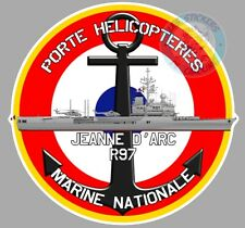 AUTOCOLLANT ARMEE MARINE NATIONALE PORTE-HELICOPTERES JEANNE D'ARC R97 PE196