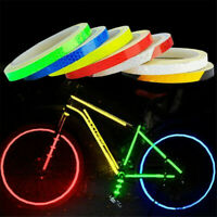 1PC Bicycle Bike Motorcycle Reflective Stickers Night Outdoor Riding Safety Tape