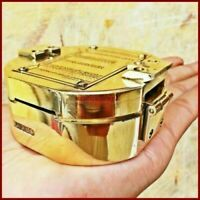 Antique Maritime Brass Brunton Compass Nautical Direction Compass HANDMADE GIFT