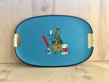 Everybright Lacquerware Blue Tray #5303 Vintage