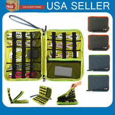 Cable Cord Organizer Electronics Accessories Travel Bag USB Hard Drive Case LOT