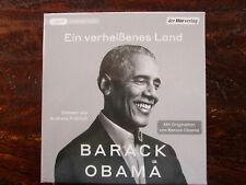 """Barack Obama """"Ein verheißenes Land"""",4 mp3-CDs,ungekürzt,neu,OVP,ohne Porto"""