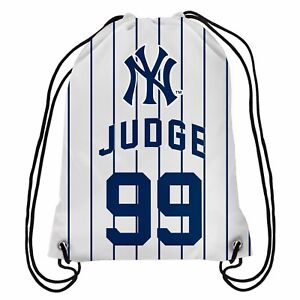 AARON JUDGE NEW YORK YANKEES #99 Jersey DRAWSTRING BACKPACK - New PINSTRIPE