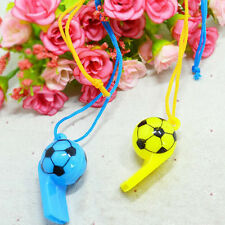 2X Colourful football Whistles / Classic Pea Whistle - Referee WorldCup `Gx
