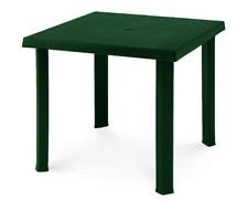 Tavolo in plastica resina da Esterno Giardino 80x80 H72cm gambe smontabili Verde