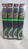NEW Fujifilm HQ 120 VHS Blank Tapes, 4 Pack, 6 Hours, Factory Sealed Fuji