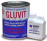 Marine-tex Gluvit Epoxy Waterproof Sealer 8 lb. Gallon Kit with Hardener 8418