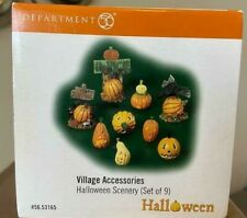 New ListingDepartment 56 Halloween Scenery - Set of 9 (Hard to Find) #56.53165