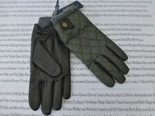 POLO RALPH LAUREN Leather & Wool Glove Exquisite Green Quilted Gloves BNWT R£60