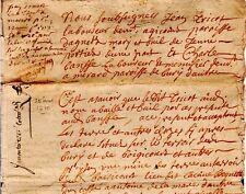 1710 Oise Agnetz & Bury bail de terres à Boisicourt par TRICOT PORTIER à BENSSE
