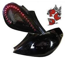 SCHWARZE LED RÜCKLEUCHTEN mit LED-BLINKER OPEL CORSA D 06-14 3-TÜRER black LH