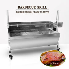 Stainless Steel Hog Roast Machine Rotisserie Grill Barbecue Charcoal Lenght 66CM