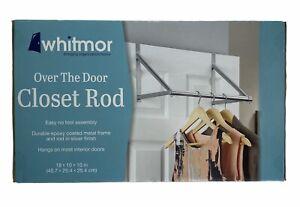 Whitmor Over the Door Closet Rod