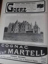 château de KERFILY en ELVEN + MARTELL + GOERZ pub papier ILLUSTRATION 1909 col