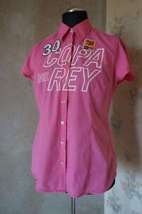 Women's GAASTRA Copa Del Rey shirt XL 16/18 top casual blouse pink slim fit top