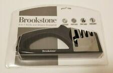 Brookstone 4-in-1 KNIFE & SHEARS SHARPENER Easy Grip Restore Scissors Polishes