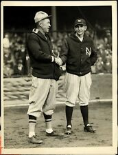 Grover Cleveland Alexander & Bob Shawkey Shaking Hands Before a Game B&W Photo