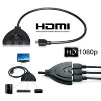 3 Port 1080P HDMI AUTO Switch Splitter Switcher HUB Box Cable for DVD TV STB RF