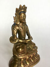 Late 19th Century antique Sino-Tibetan Buddhist bronze statue of  Amitayus