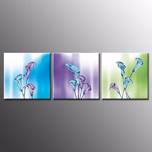 FRAMED CANVAS PRINTS Photo Tulips Flower Paintings Wall Art For Home Decor-3pcs
