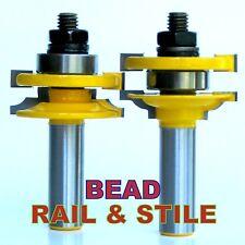 "2pc 1/2"" SH Quarter Bead Rail & Stile Router Bit Set sct-888"