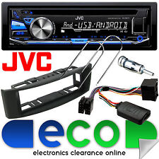 Renault Scenic 96-03 JVC Bluetooth CD Car Stereo BLACK Fascia Steering Wheel Kit