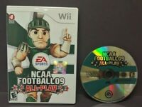 NCAA Football 09  - Nintendo Wii Wii U Game Tested + Works  - 1-4 player game -