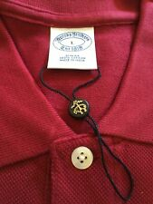 NEW Mens LARGE L Slim BROOKS BROTHERS Cardinal RED Polo SS SHIRT Free Ship