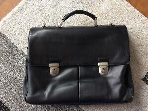Hugo Boss Aktentasche, schwarz, Leder