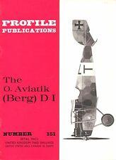 O.AVIATIK (BERG) D.I: PROFILE #151/ 12 PAGES + 2 EXTRA/ NEW PRINT FACSIMILE ED