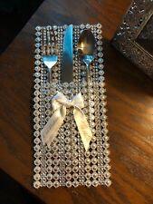 "Elegant wedding silverware holders - LOT of 100 pcs - HANDMADE - 4.5"" x 10.5"""