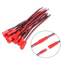 10 pares 10cm JST Plug Conector 2pin cable HEMBRA + MACHO para RC Lipo Batería