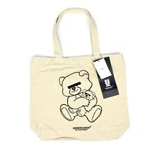 NWT Undercover MADSTORE Jun Takahashi Bear Logo Print Canvas Tote Bag AUTHENTIC
