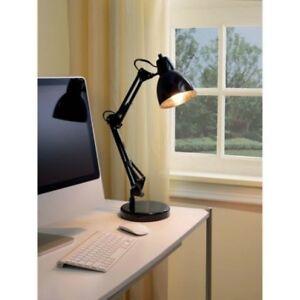 "MAINSTAYS 21.75"" High Rich Black Finish Architect Reading Task Desk Lamp w/ Bulb"