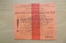 Ticket- 1991 BRITISH GRAND PRIX~Special Trackside Spectator Enclosures