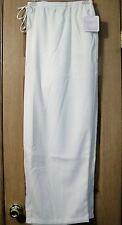 Womens Plus Soft Silhouettes White Polyester/Rayon Drawstring Pants 6X New