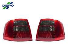 DEPO 1998-2004 Audi A6 Allroad 5 S6 Red / Smoke LED Tail Lights No Error Pair