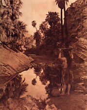 Palm Canyon 15x22  Edward Curtis Native American Indian Art Photograph