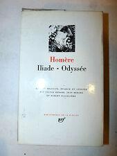 Homere Omero: Iliade Odysee Odissea 1990 La Pleiade in francese ex libris