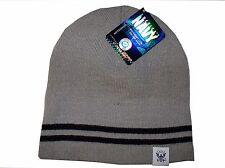 Grey Black Navy USN Logo Military US Watch Stocking Cap Beanie Winter Stocking