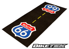 BIKETEK GARAGE MAT ROUTE 66 MOTORCYCLE HARLEY CHOPPER DISPLAY MAT 190x80cm