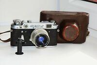FED-2 35mm USSR Rangefinder Film Camera (copy Leica) w/s lens industar-26M EXC