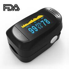 Pulsossimetro da Dito Misuratore di Ossigeno Ossimetro Saturimetro Digitale FDA
