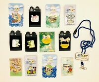 Disney Parks Lot Of 12 Epcot Limited Ed Topiary Mickey Minnie Stitch Pins RARE