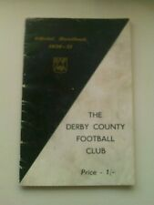 1950/51 Derby County  Handbook