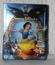 NEW Disney Snow White And The Seven Dwarfs Blu-Ray Steelbook U.K.  Region B