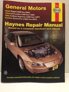 Haynes 38010 Repair Manual GM General Motors Buick,  Chevrolet,  Olds & Pontiac