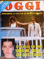 OGGI 35/1980 JUNOT SACHAROV CAROLINE GOGGI BILLY CARTER TRUCIOLO MELATO ARBORE
