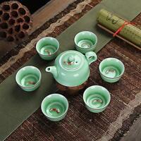 Porcelain tea set in Chinese fish set ceramic tea pot kung fu tea sets tea cups